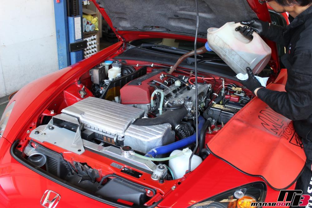 S2000(AP1)エンジンオイル交換作業の画像