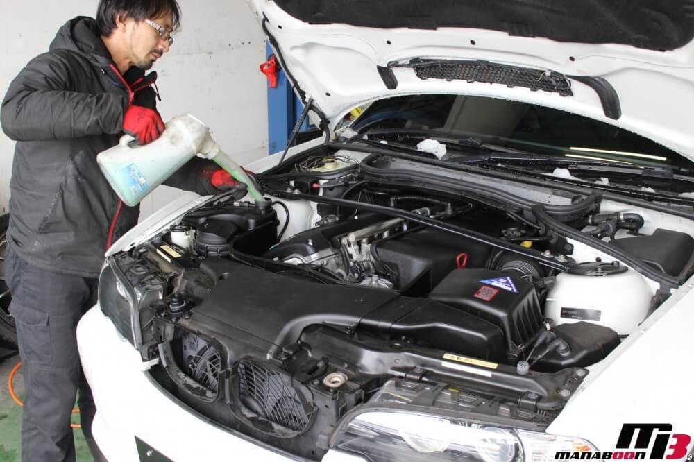 BMW M3(E46)LLC交換作業の画像