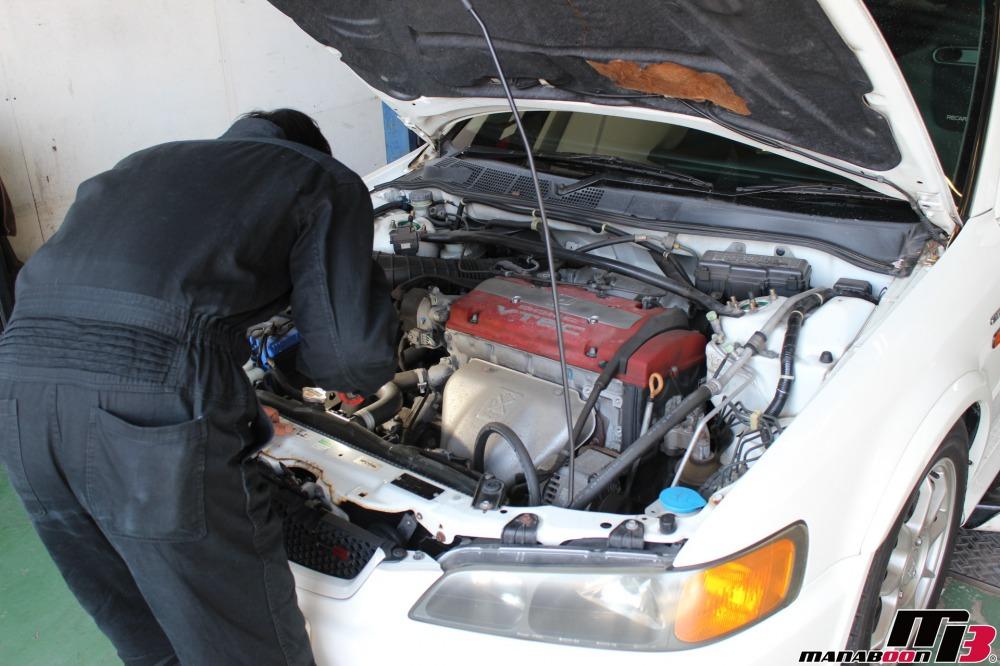 アコードユーロR(CL1)車検の点検整備作業の画像