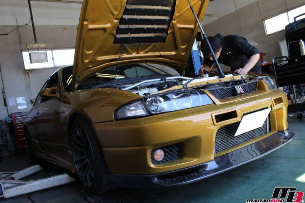 スカイラインGT-R(BCNR33)車検の為の点検整備作業の画像