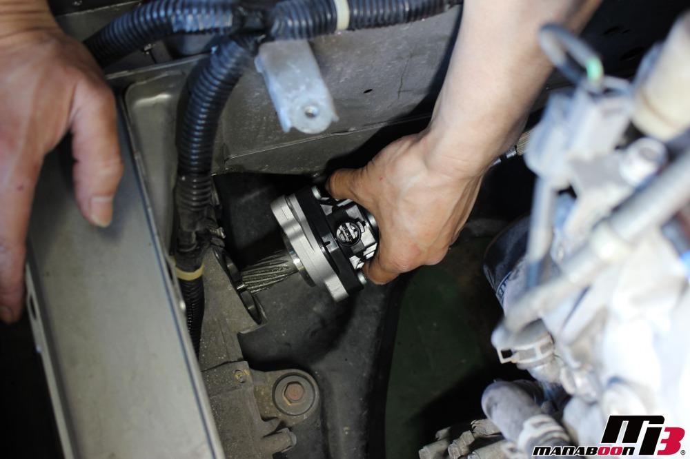 S2000(AP1)パワステ不良の修理作業の画像