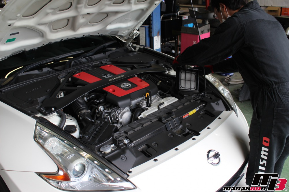 フェアレディZ(Z34)神奈川・東京の車検点検整備作業の画像