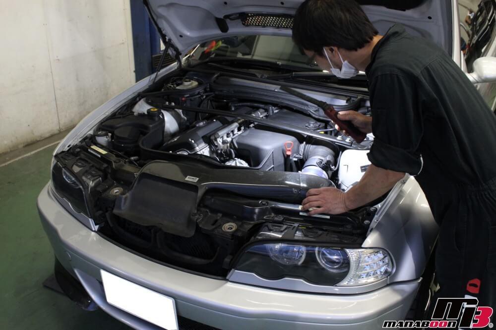M3(E46)車検の為の点検整備作業の画像