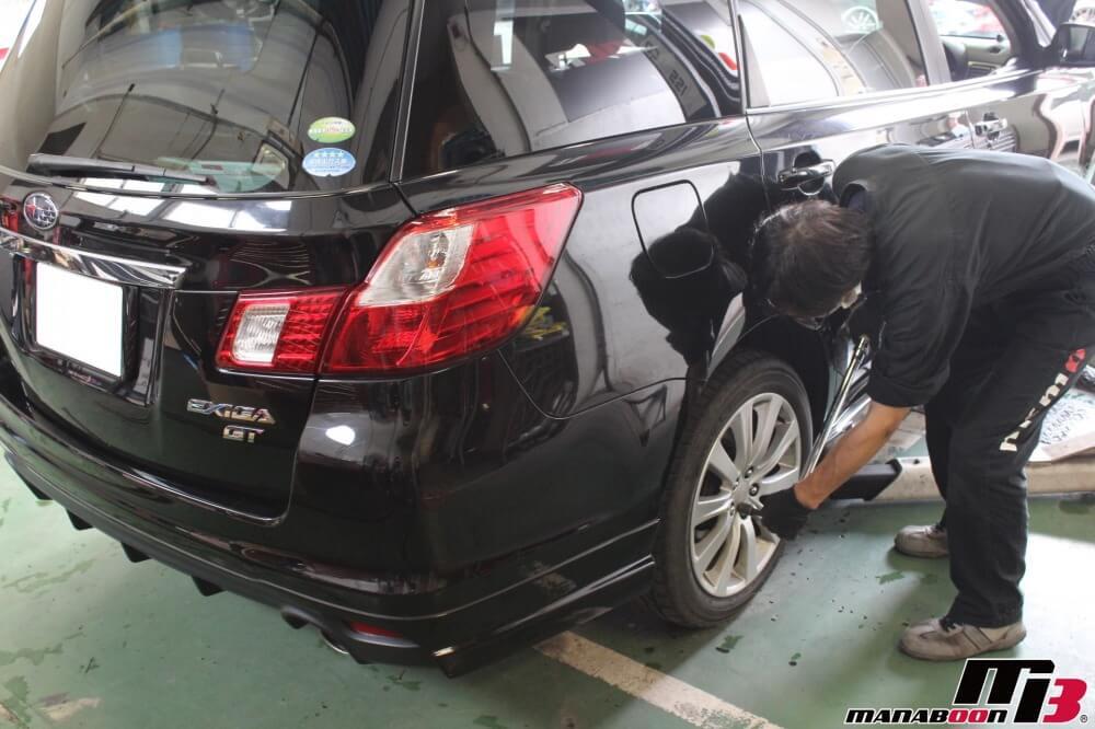エクシーガ車検の為の点検整備作業の画像