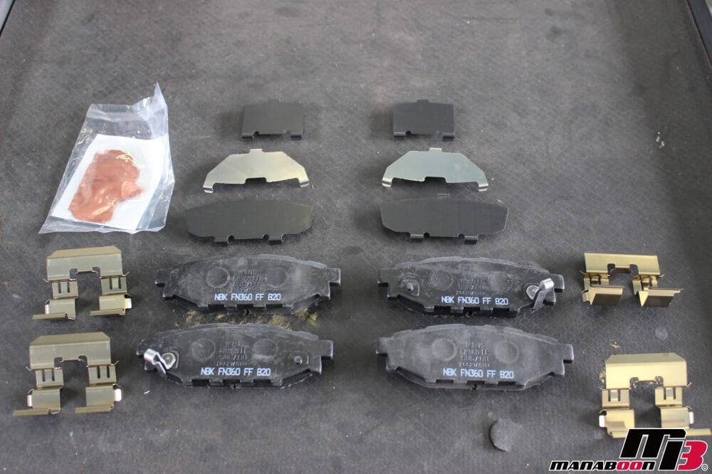 エクシーガのリヤブレーキパッド交換作業の画像