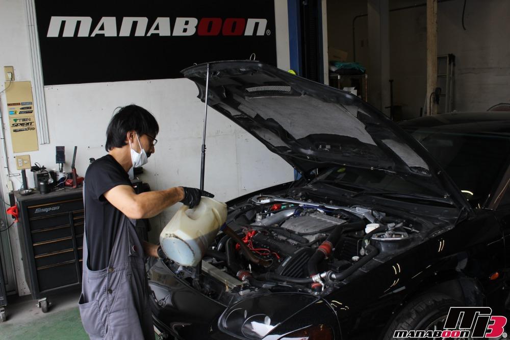 GTOエンジンオイル交換作業の画像