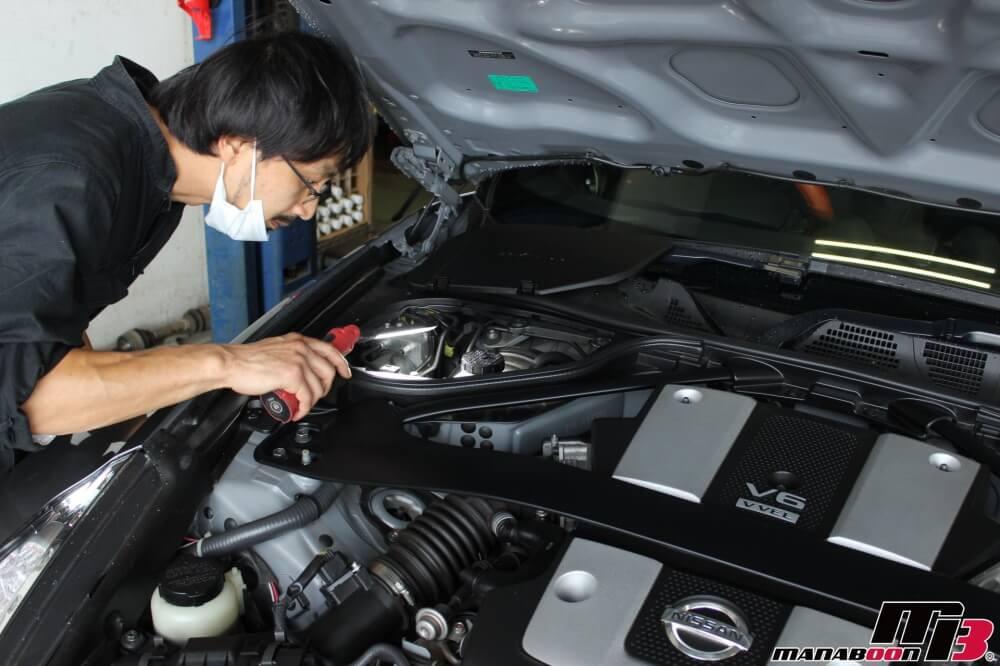 フェアレディZ(Z34)車検点検整備作業の画像