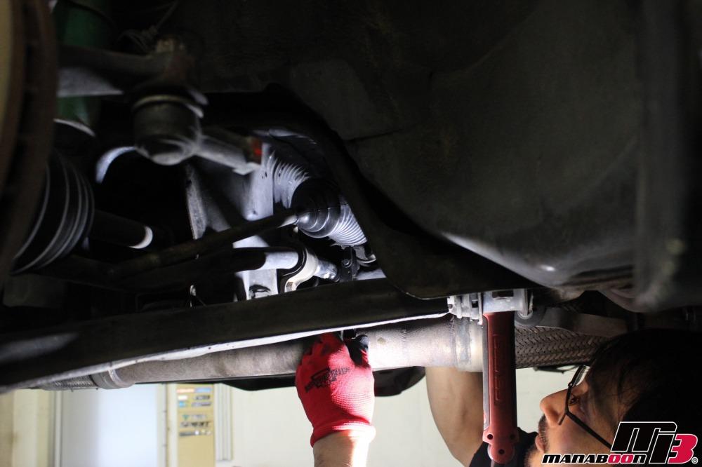 GTOステアリングラックブーツ交換作業の画像
