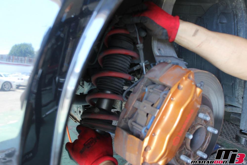 フェアレディZ(Z33)車高調取り付け作業の画像