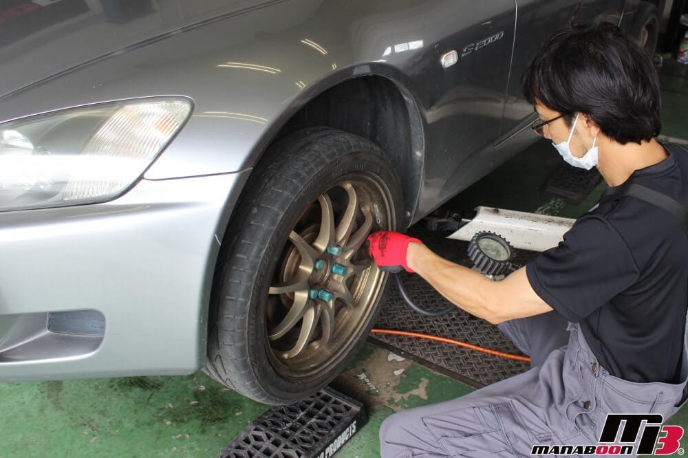 S2000(AP1)車検の為の点検整備作業の画像