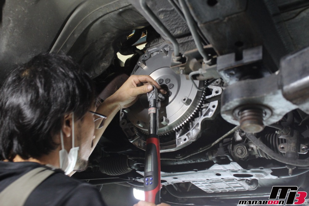 シルビア(S14)クラッチ交換作業の画像