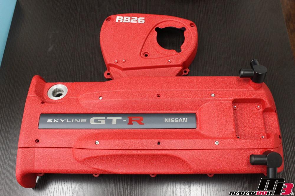 スカイラインGT-Rヘッドカバー結晶塗装への交換作業の画像