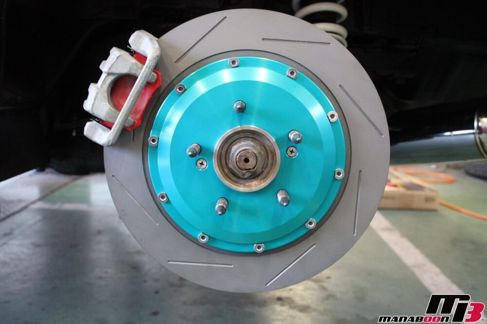 S2000(AP1)ブレーキ強化作業の画像