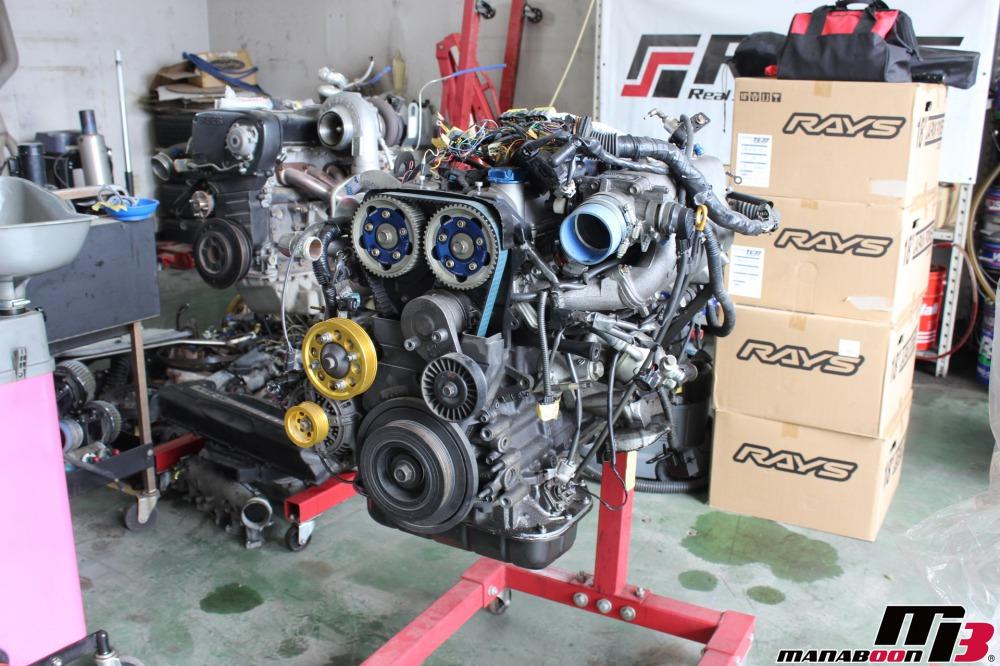 アリスト(JZS161)エンジン降ろし作業の画像