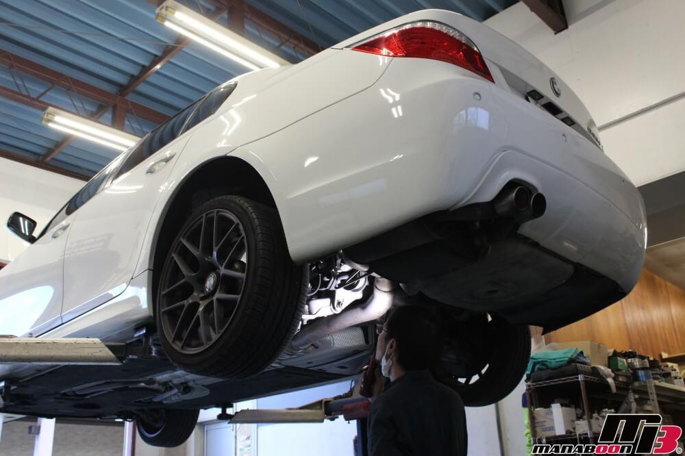 BMW車検点検整備作業の画像