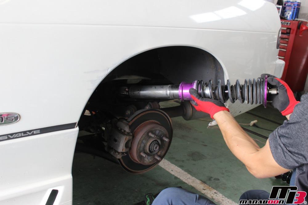 シルビアの車高調交換作業の画像