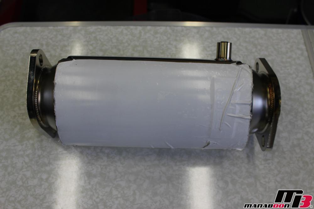 スカイラインGT-R(BNR32)キャタライザー取付作業の画像