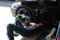 スカイラインGT-R車検後のトー調整調整作業の画像