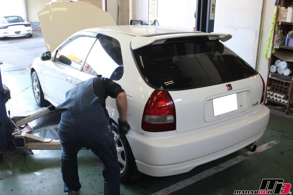 シビックタイプR(EK9)車検の点検整備作業の画像