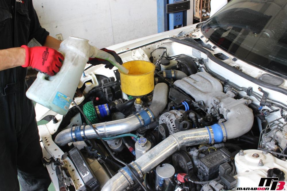 RX-7(FD3S)エンジンオーバーホール作業の画像