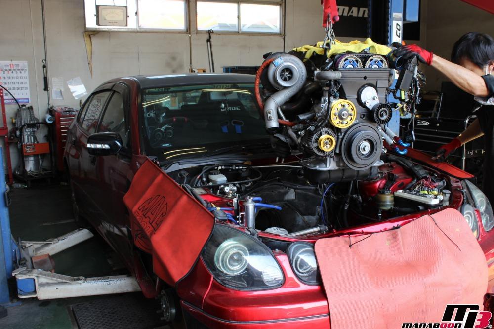 2JZエンジンオーバーホール作業の画像