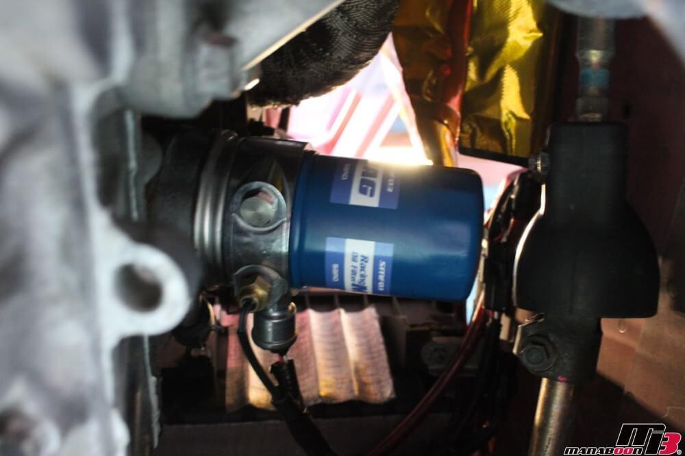 S2000エンジンオイル交換作業の画像