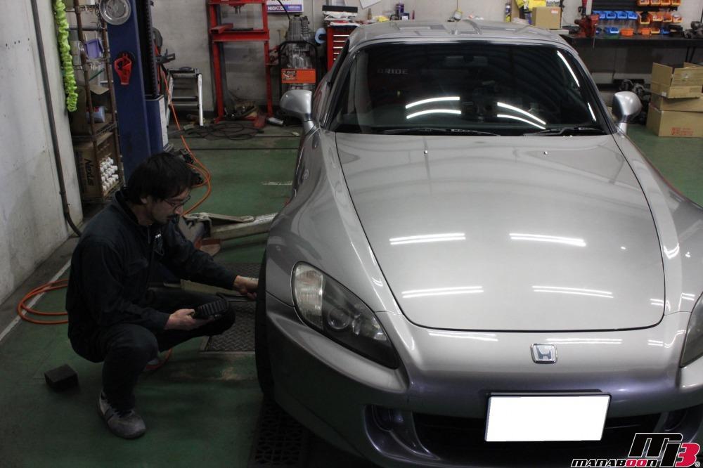 S2000クラッチ交換作業の画像