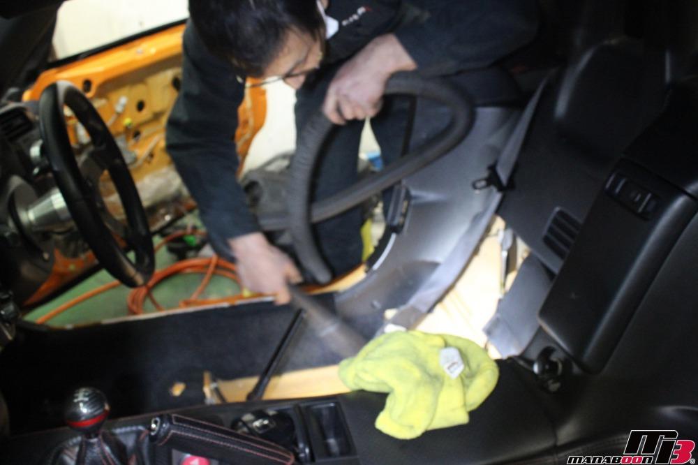 S2000幌交換作業の画像