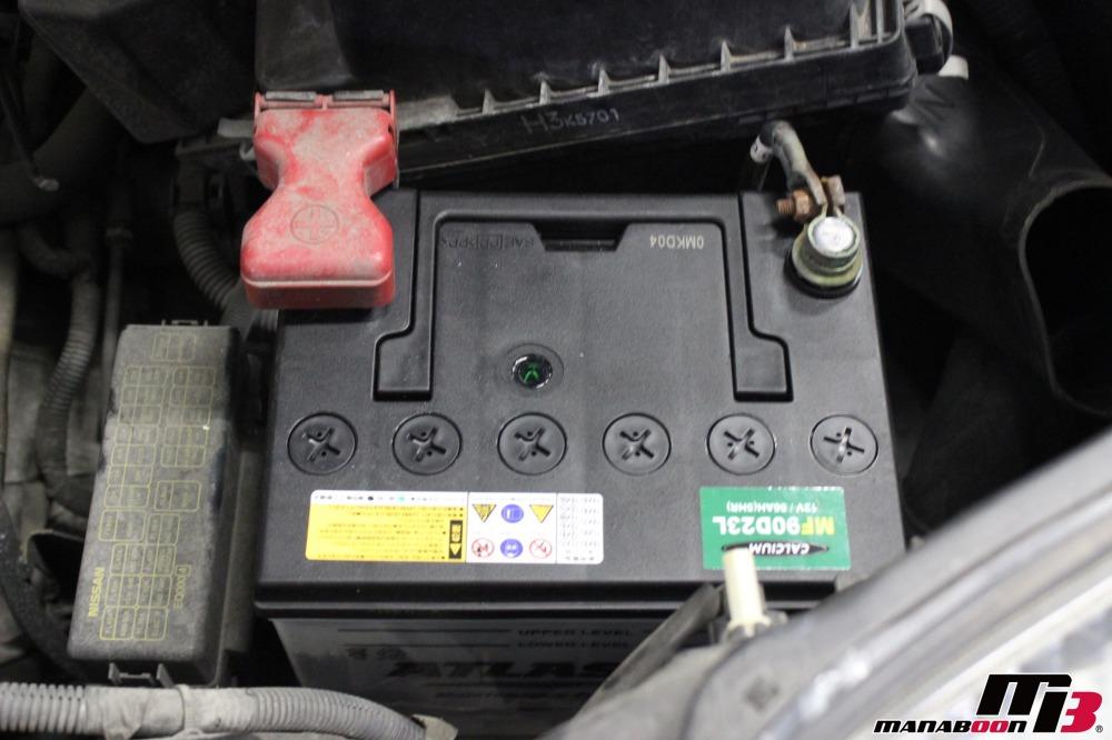 エクストレイル バッテリー交換作業の画像