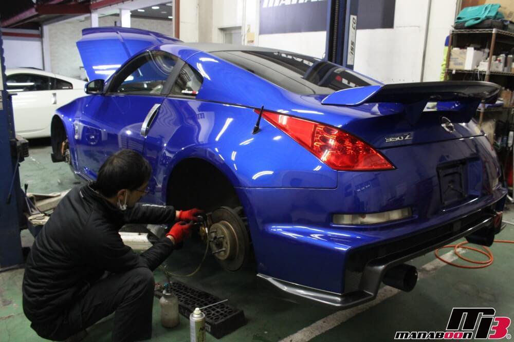 スポーツカー東京神奈川埼玉千葉点検整備作業の画像