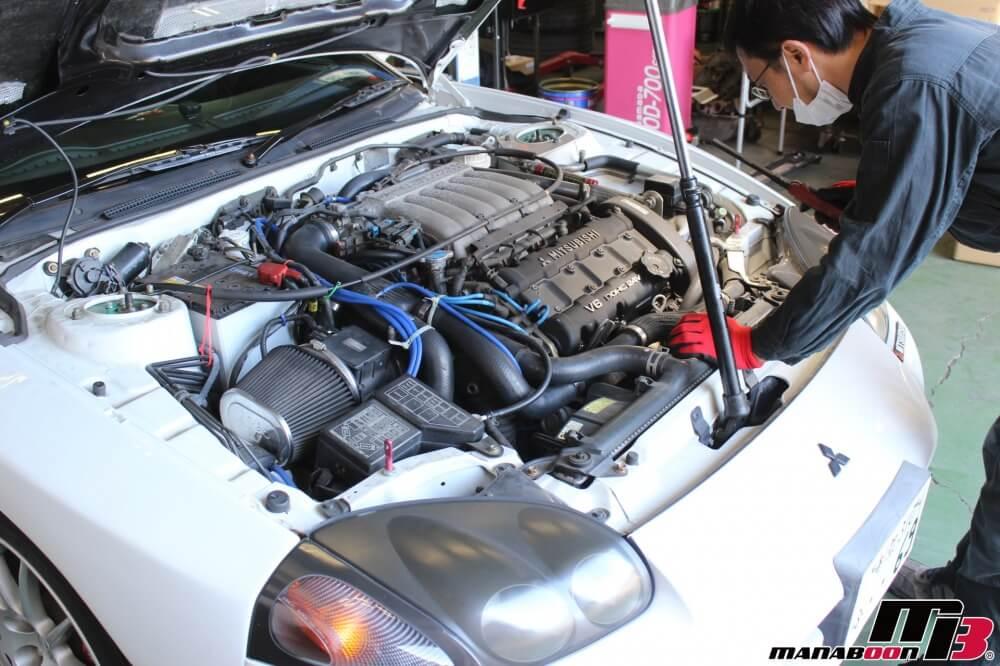 GTO車検見積り作業の画像