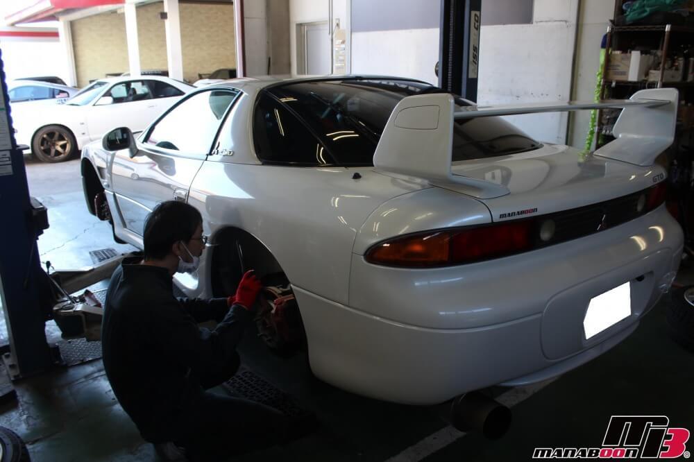 GTO車検の見積り作業の画像