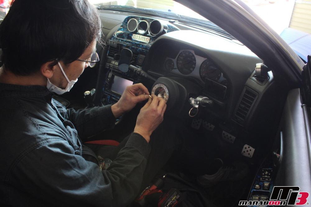 ER34スカイライン25GTターボ点検整備作業の画像