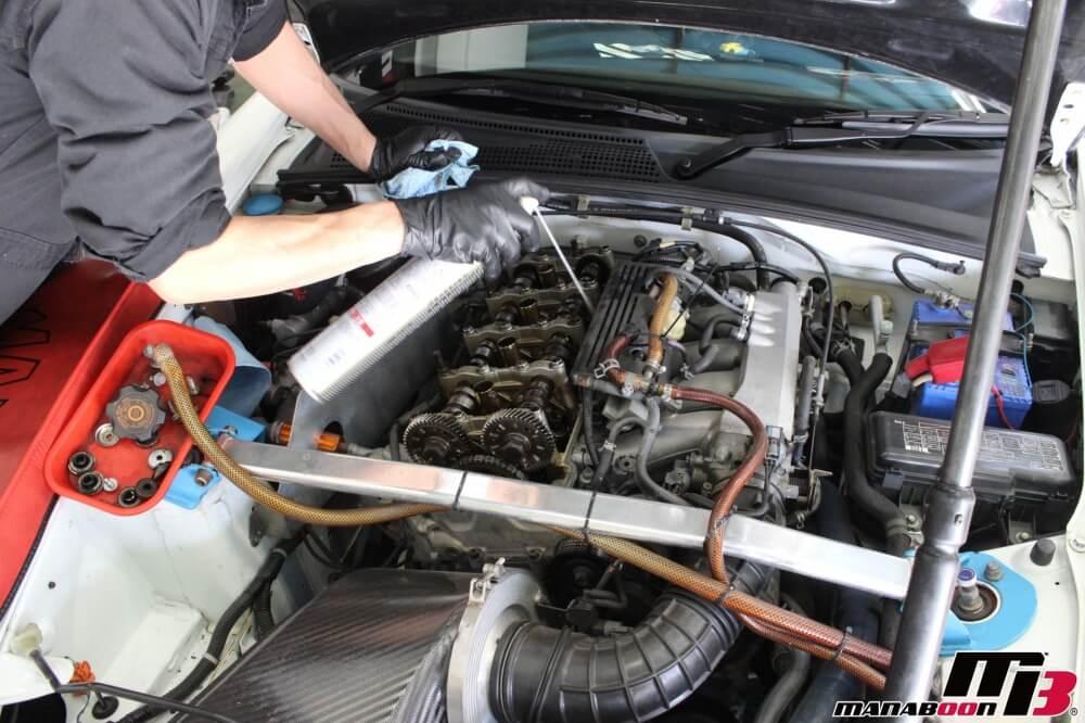 S2000オイル漏れ修理作業の画像