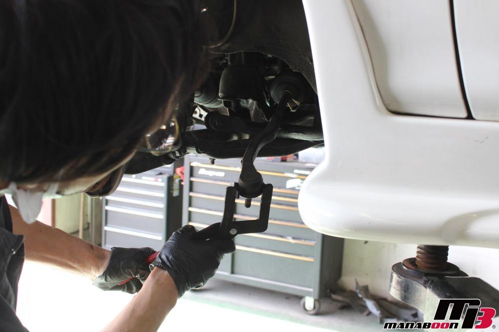 インテグラタイプR車検前の点検整備作業の画像