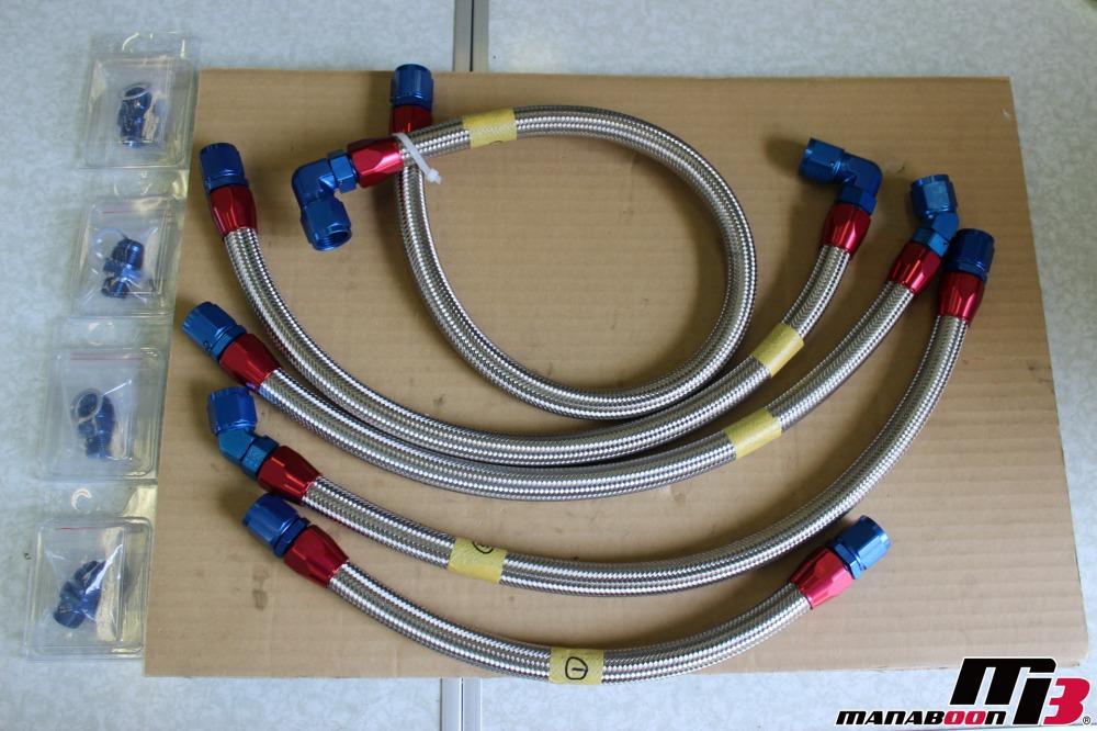 R32スカイラインオイルクーラーホース交換作業画像