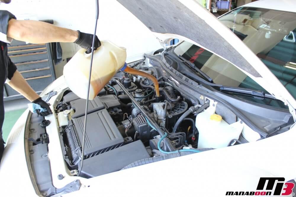 RX-8エンジンオイル交換作業の画像