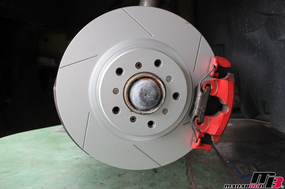 E46M3ブレーキパッドローター交換作業画像