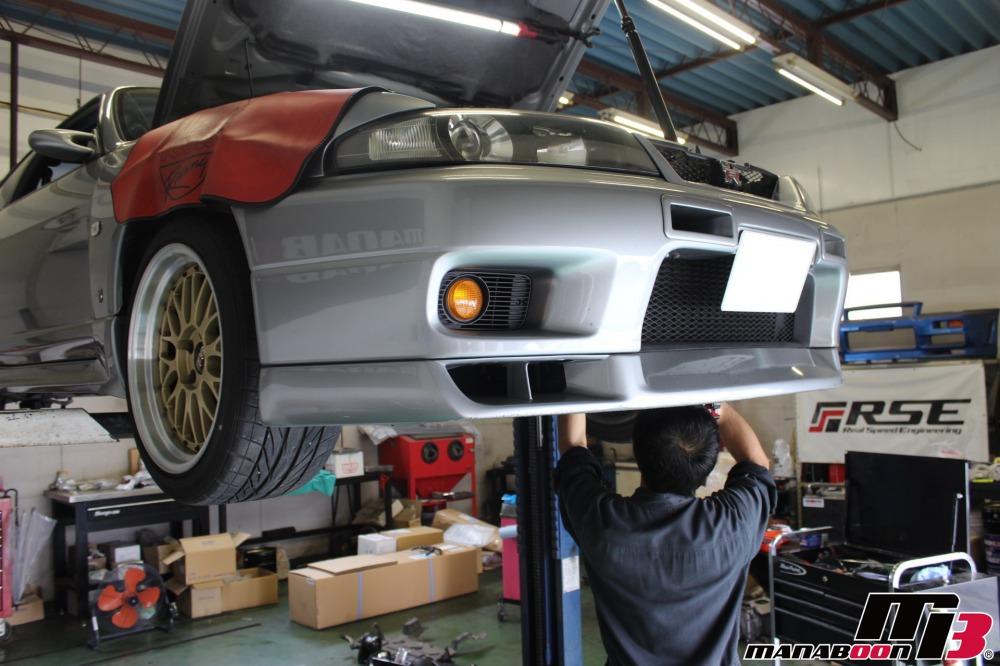 スカイラインGT-R車検整備作業画像