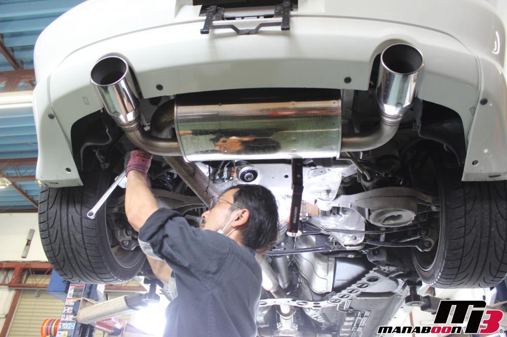 スカイライン350GT点検整備作業画像