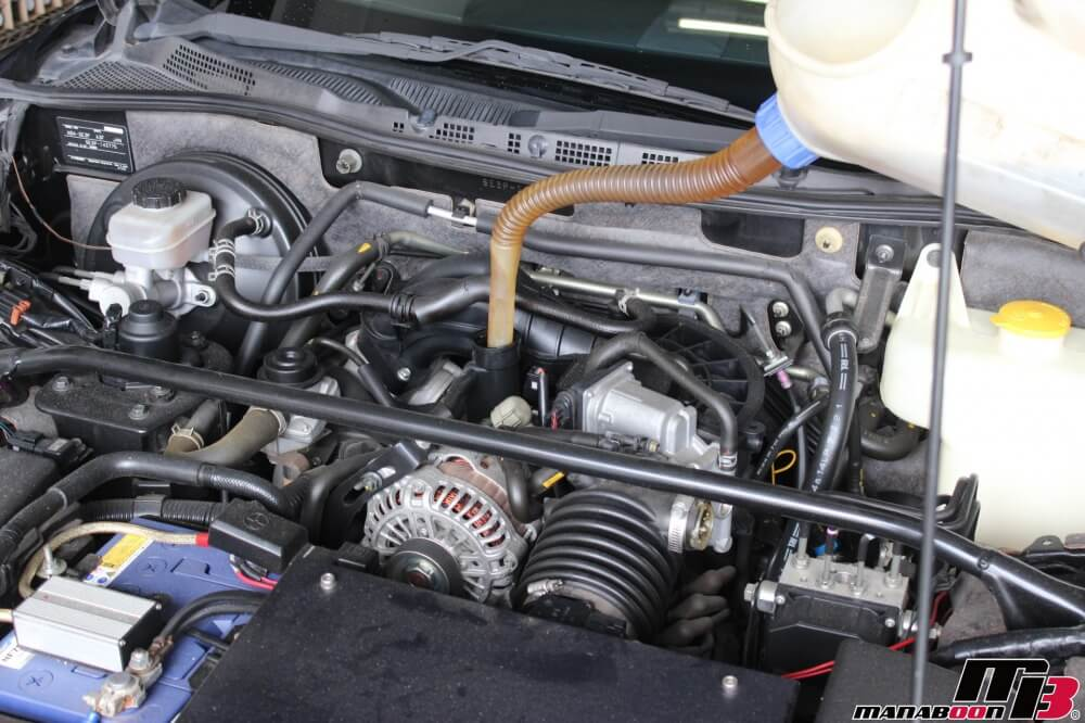 RX-8オイル交換作業画像