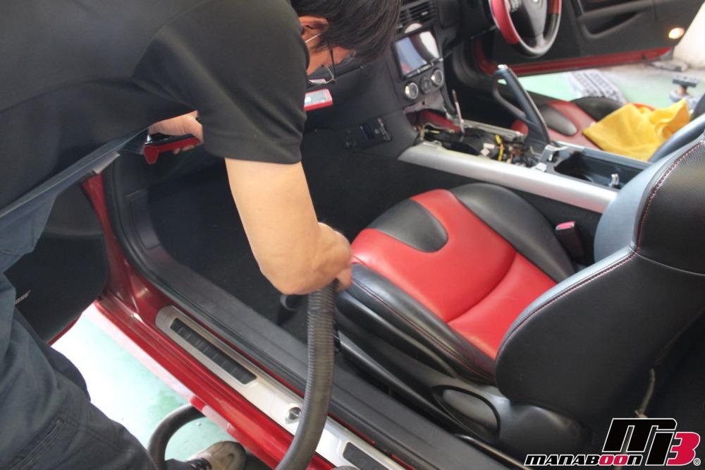 RX-8ナビ・バックカメラ・ドラレコ取付作業画像