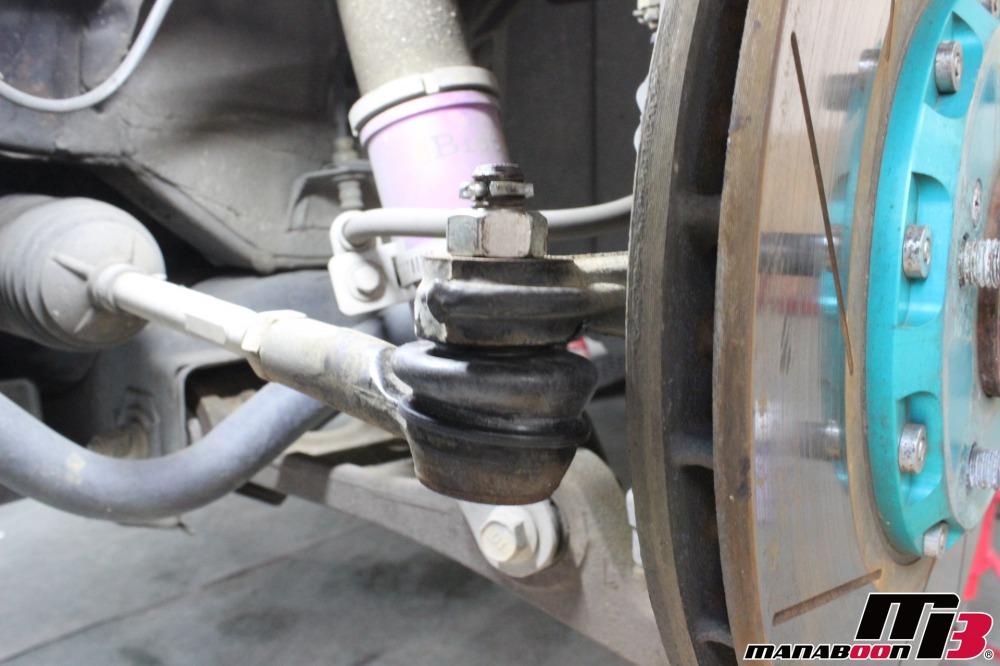 S2000タイロッドエンドブーツ交換作業画像