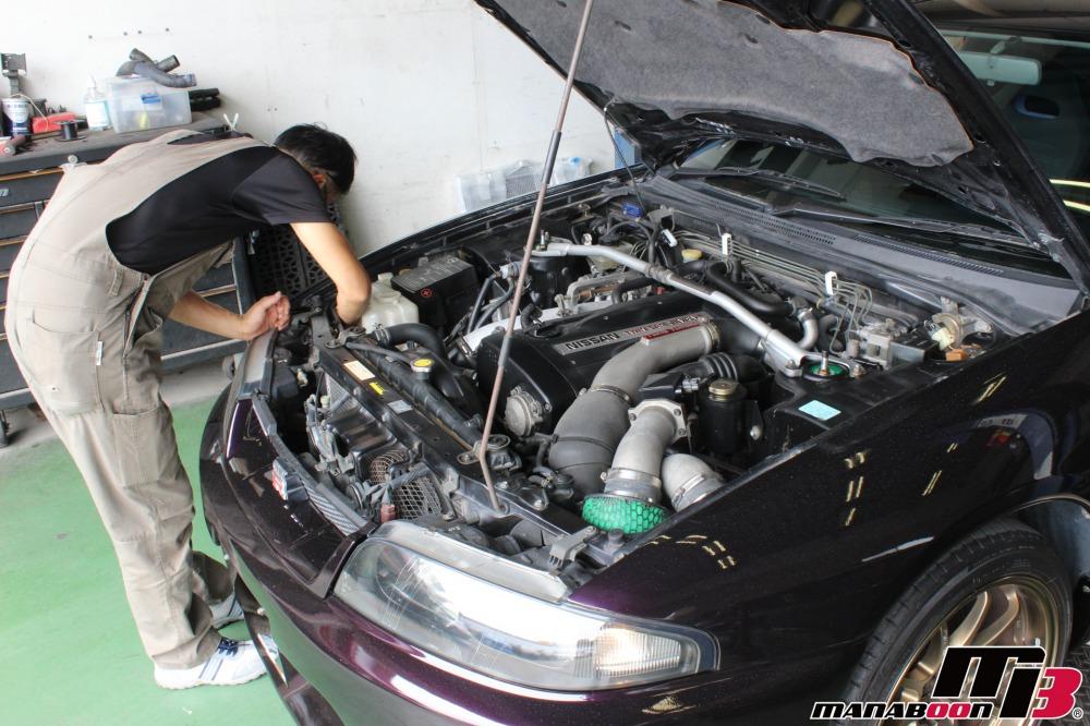 スカイラインGT-R車検点検整備作業画像