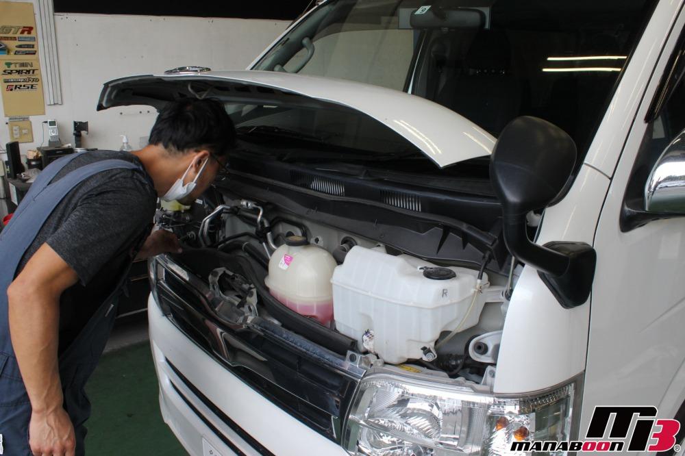 ハイエース車検点検整備作業画像
