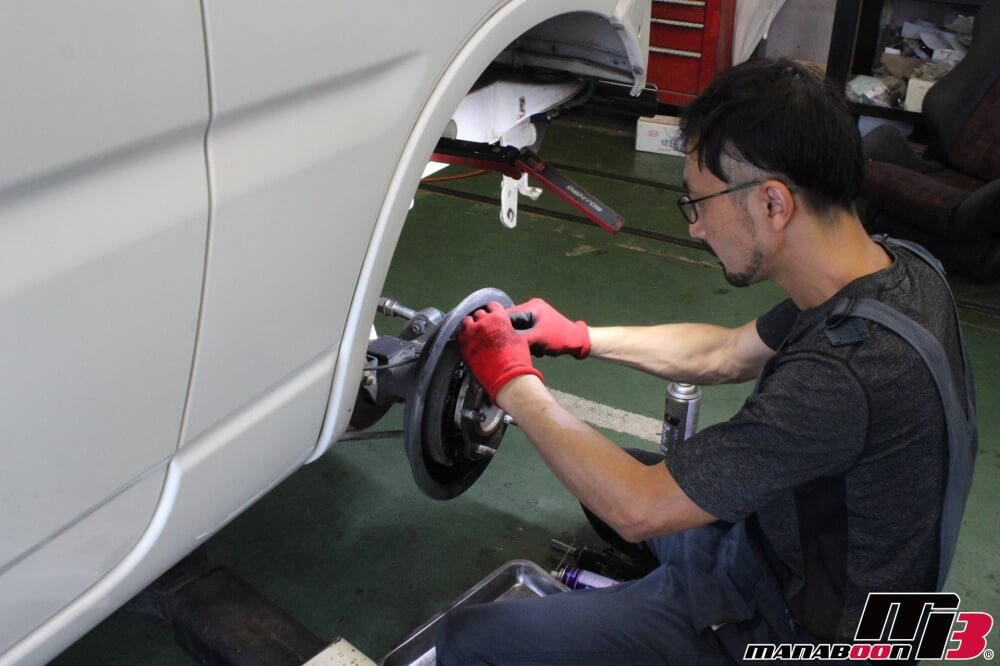 ジムニー車検点検整備作業画像