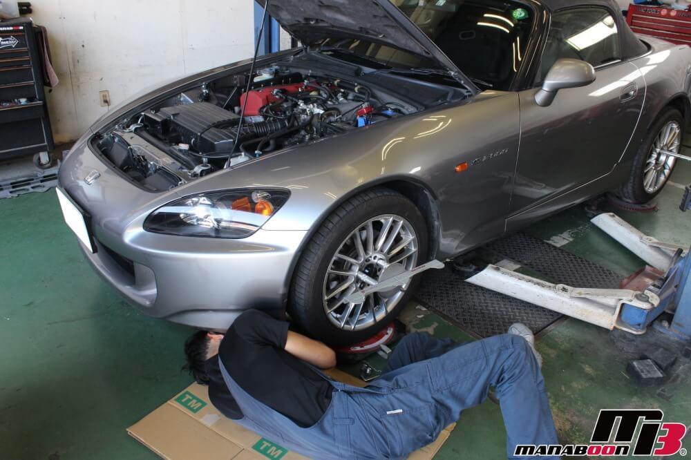 S2000パワステ修理作業画像