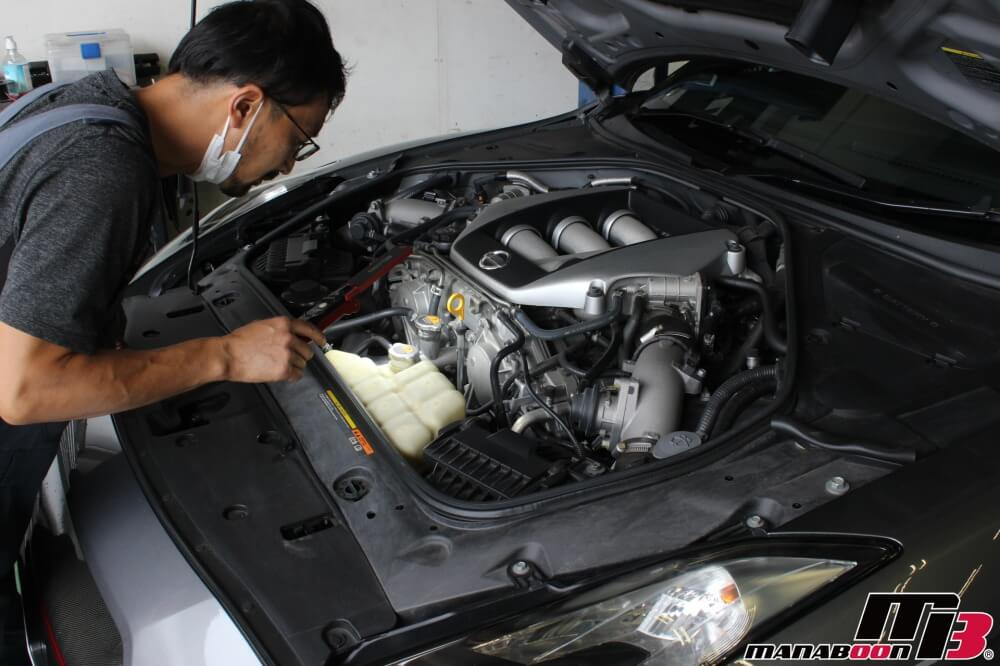 R35GT-R車検点検整備作業画像