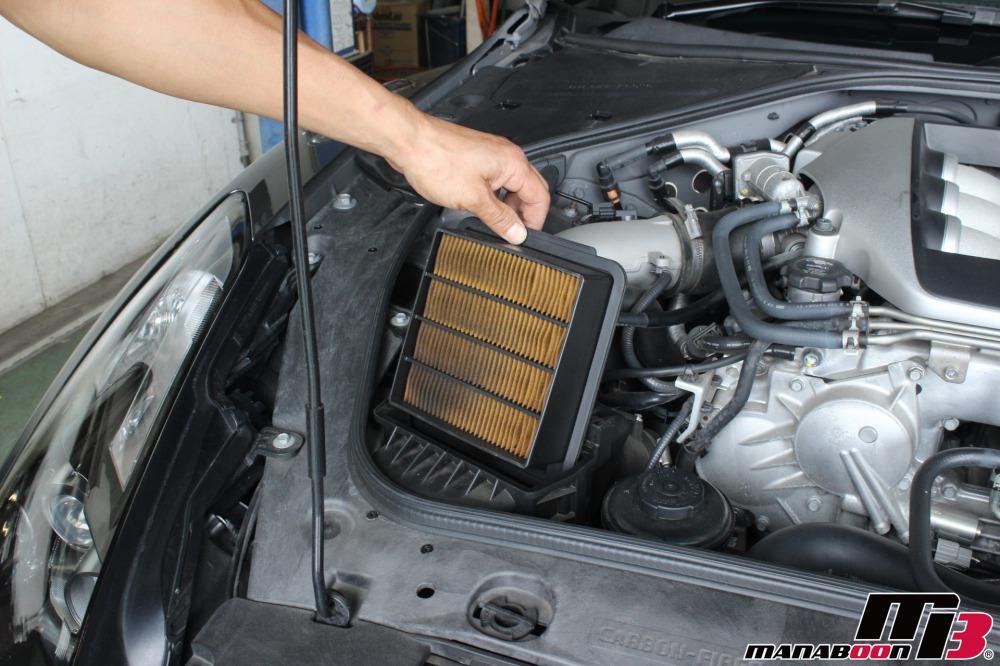 R35GT-R車検前の点検整備作業画像