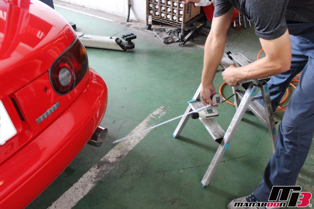 ロードスター車検点検整備作業画像